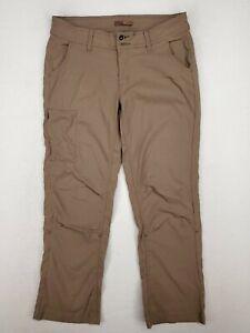 PrAna Womens Khaki RollUp Cargo Hiking Pants Size 8 Comfort Stretch Outdoor Gear