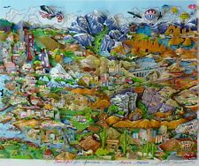 """Charles Fazzino """"O Beautiful For Spacious Skies. America"""" 3-D Hand signed"""