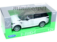 WELLY 24059 2015 15 RANGE ROVER SPORT SUV 1/24 DIECAST WHITE with BLACK TOP