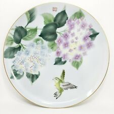 """10"""" Antique Vintage Hand Painted Porcelain Hydrangea Gold Trim Crafted in Japan"""