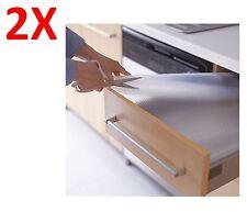 2 x IKEA Non-slip Mat Drawer VARIERA Kitchen Cupboard Shelf Clear 150CMX50CM