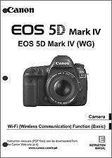 Canon EOS 5D Mark IV  Digital Camera User Instruction Guide  Manual