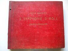 ANTON BRUCKNER - 9 SYMPHONIE D-MAJOR 8x12'' SET 78rpm 1943 POLYDOR SCHURICHT EX