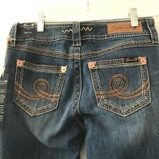 New Seven 7 Juniors Size 2  Bootcut Stretch Riveted Embroidered Pockets Jeans B2