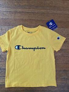 Champion Boys short sleeve T-shirt Yellow Crew Neck NEW NWT kids Size 5