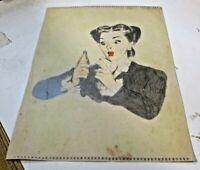 bozzetto matita e tempera 23 x 30 pubblicità BIBITE SAN PELLEGRINO anni '50