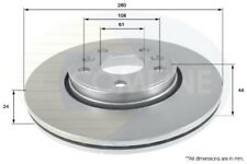 Comline Front 2x Coated Brake Discs Vented ADC2702V(X2)  - 5 YEAR WARRANTY