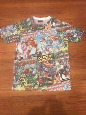 Spider-Man t shirt Mens yellow Marvel Comicbook Superhero Small