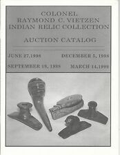 OLD BARN AMERICAN INDIAN RELIC VIETZEN Coll Auction Catalog 1998-1999 2 Vols Set