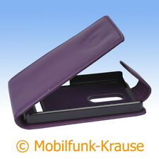 Flip Case Etui Handytasche Tasche Hülle f. Nokia Asha 210 (Violett)