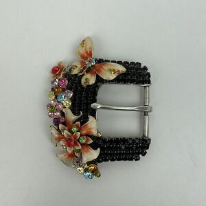RARE Butterfly Buckles 2005 Sarah Williams Swarovski Crystal Belt Buckle ONLY