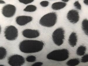 "DALMATION ANIMAL PRINT VELBOA FAUX FUR VELOUR FABRIC CRAFT MATERIAL 60"" WIDE"