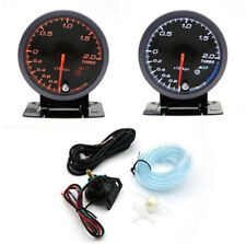 12V Turbo Petrol Vehicles 2.5 Inch LED Turbo Boost Meter Gauge Pressure Alarm
