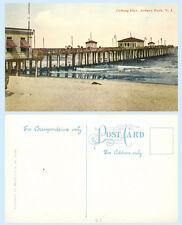 Fishing Pier Asbury Park New Jersey c1912  Building Postcard - Architecture