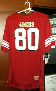 Majestic San Francisco 49ers Hall of Fame Jerry Rice #80 Men's Medium Red Jersey