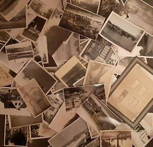 OLD PHOTOS ANTIQUE / VINTAGE BULK LOT TOWN CITY & LANDSCAPES VINTAGE 1900-1950s