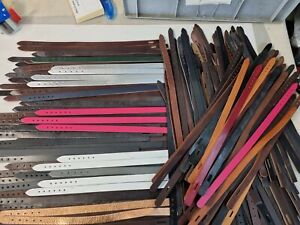 200+ Dog collars,  blanks , overstock, colours, sizes Leather Lot A 181