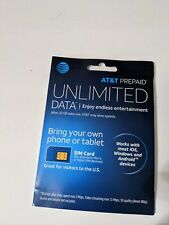 At&T PrePaid Sim Kit for Standard, Micro, or Nano Sim card devices new