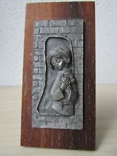 Vintage Pewter Plaque -  Peltro Casellato A Mano, Made in Italy.