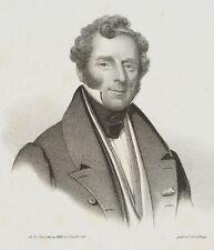 LUTHERER, Portrait d. Hans Friedrich Curt von Lüttichau, 19. Jh., Lithographie