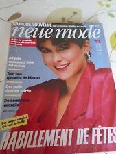 "MAGAZINE PATRONS VINTAGE ""NEUE MODE MANTEAUX TAILLEURS ROBES JUPES 12/1984"
