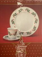 Macy's 1986 Alll The Trimmings 12 Piece Dinnerware Set Royal Gallery Fine China