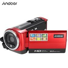 "FULL HD 16MP 2.7"" TFT LCD 16X ZOOM Digital Video Camera DV Camcorder Red E4K8"