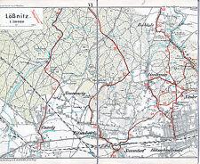 Coswig Lößnitz Kötzschenbroda 1923 Teil-W-Karte/Ln Zitzschewig Buchholz Lindenau