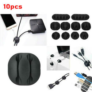 10 Pcs Cable Reel Organizer Cord Management Charger Desktop Clip Wire Holder