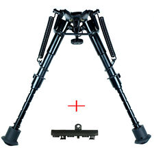 "Rifle Bipod 6"" to 9"" Harris Style Adjustable Spring Legs w/ KeyMod Rail Adapter"