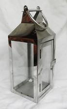 Modernist Stainless Steel Lantern / Candle Holder - Indoor / Outdoor Use - BNIB