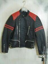 VINTAGE 80'S Leather PERFECTO Motorcycle Jacket Size S Biker Punk Metal TT