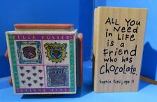 Embossing Arts Four Seasons & Inkadinkadoo Chocolate Stamps - Block Buster