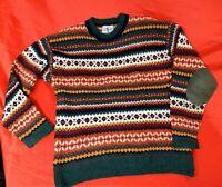 Maglione NORDICO pullover pura lana taglia M sweater cardigan man felpa