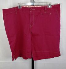 Avenue Raspberry Pink Shorts Plus Size 18