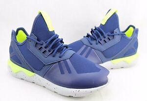 Adidas Mens Tubular Runner Shoes Blue/ Light Grey AQ8389 Size 8-10