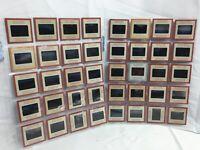 Vintage lot 40 Kodak Kodachrome Slide Photos 1960s Red Sides Panoramic Views