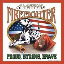 Metal Sign Fire Police Rescue Firefighter Outfitters Dalmatian NEW