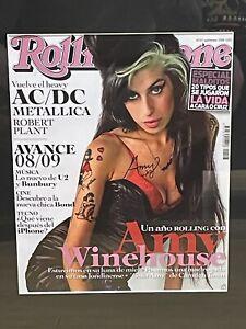 Amy Winehouse  Hand Signed Original Autograph Rolling Stone Magazine
