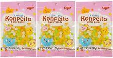 3 BAGS Japan Konpeito Puchirin Sugar Candy Kasugai AFG 2.46 oz Kompeito Confetti
