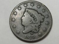 1829 US Coronet Head Large Cent Coin.  #182