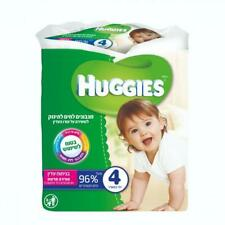 Huggies Pack of 4 Moist Baby Wipes With  Gentle Scent 64 wipes X4