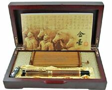 Jinhao Chinese Dragon Offspring Fountain Pen Medium Nib Copper with Wooden Box