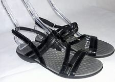 CLARKS PRIVO BLACK LEATHER STRAPPY ANKLE STRAP SANDALS SHOES US WOMENS SZ 11 M