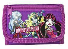 Monster High wallet Purple Children Boys Girls Wallet Kids Cartoon Coin Purse