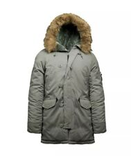 Alpha Industries Altitude Parka Fur Sub-Freezing Cold Alaska Green Men Med N3B