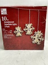 3 Home Accents 10-inch Diameter Hanging Snowflake Lights 1004446995