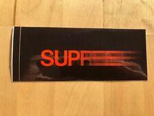 Supreme Black Motion Logo Sticker very rare 90s