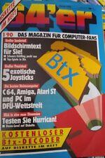 64er (64´er) 01/90 Januar 1990 C64 Commodore 64 (BTX, besten Heimcomputer)