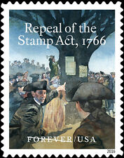 5064 Repeal Of The Stamp Act,1766 US Single Mint/nh (Free shipping offer)